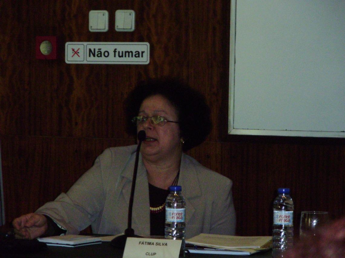 Profa. Graça no Colóqui de Gramática da FAculdade de Letras do Porto
