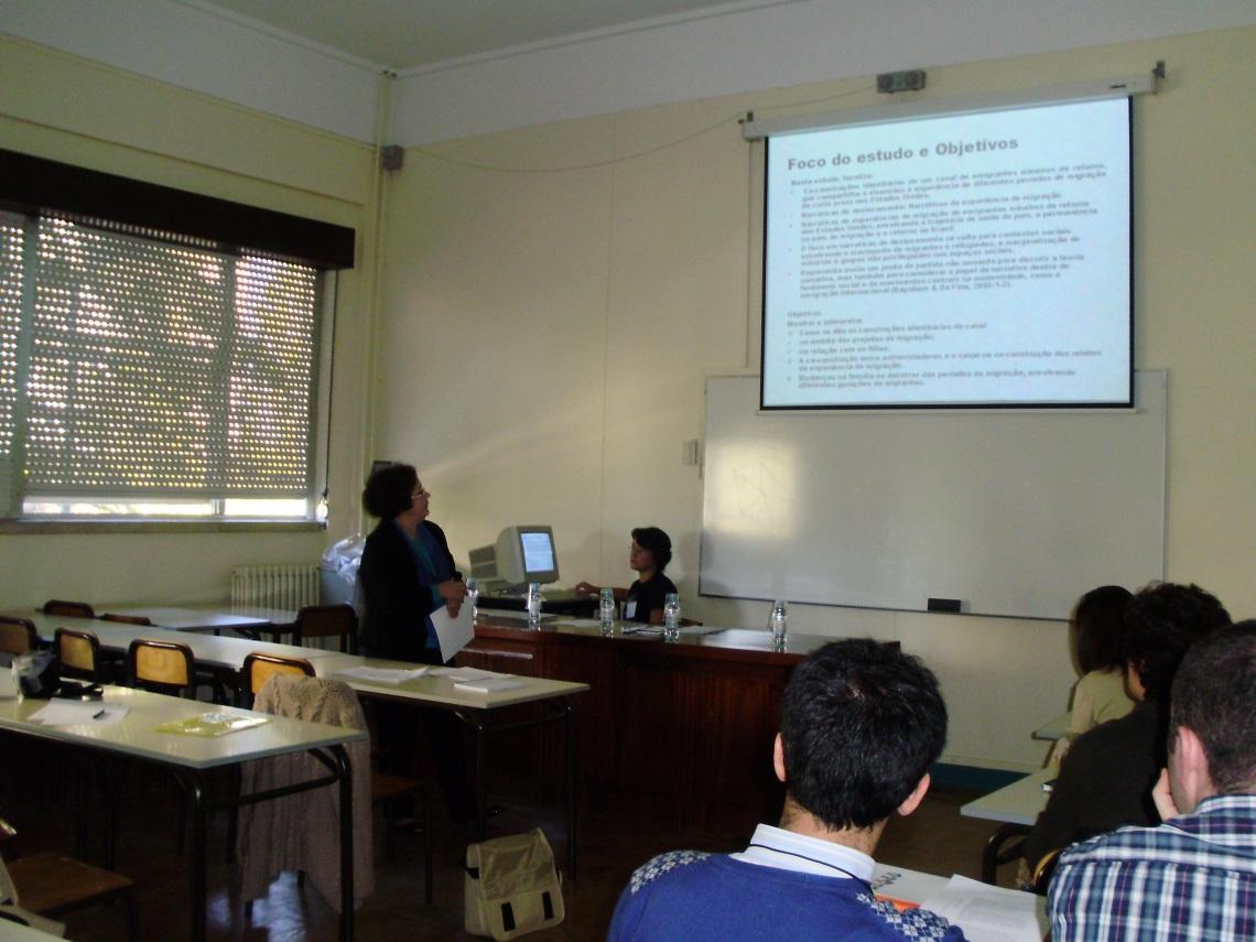 Profa. Graça na Conferência Internacional sobre Narrativa e Diáspora Portuguesa, Universidade de Lisboa