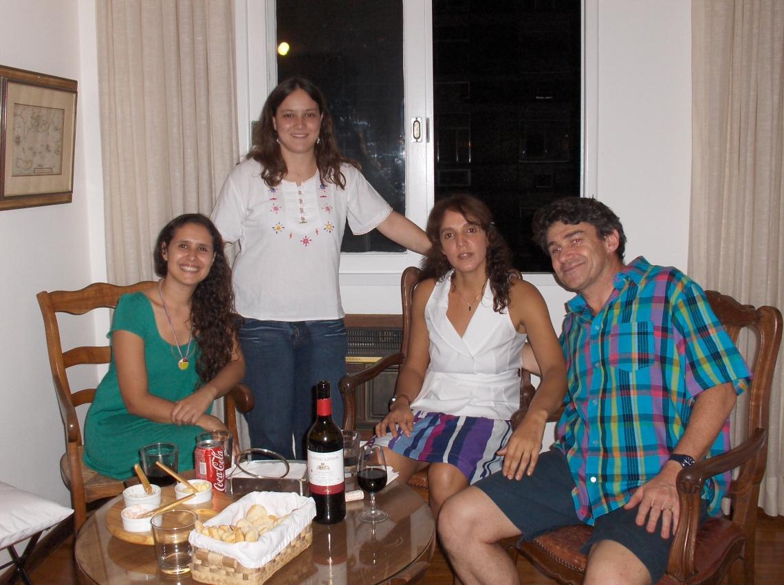 Carol, Fernanda, Carla e Henry