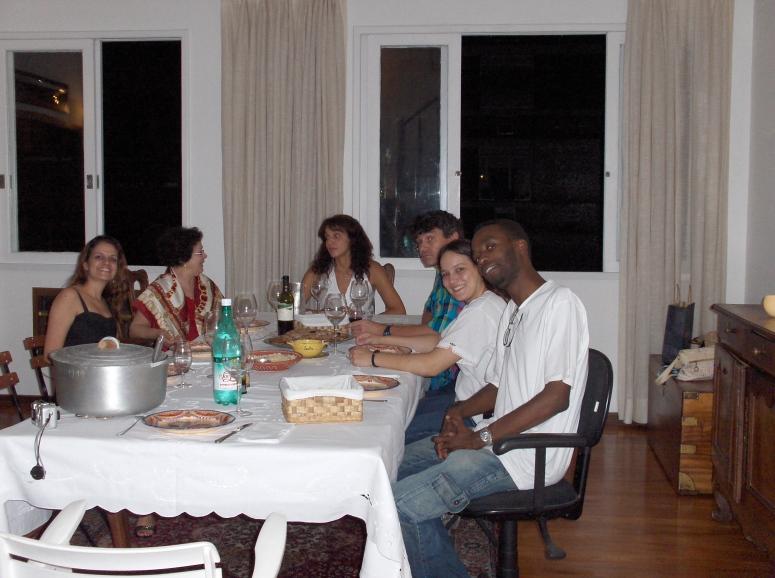 Priscila, Graça, Carla, Henry, Fernanda e Wendell