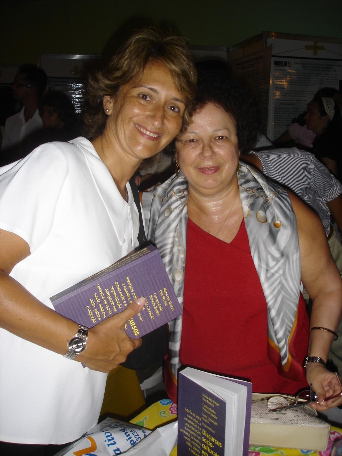Profa. Cristina (PUC-Rio) e Profa. Graça