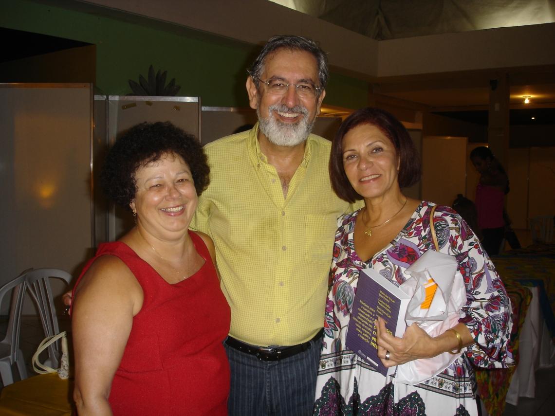 Profa. Graça, Prof. Luiz Carlos Travaglia (UFUberlêndia) e Profa.   (UFF)