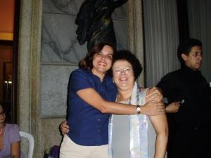 Cláudia Bockel (autora, UFRJ) e Graça
