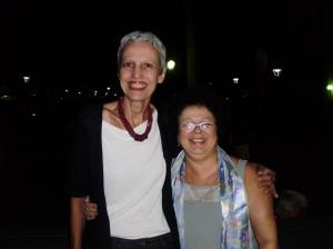 Profa. Margarida Basílio (PUC-Rio) e Graça