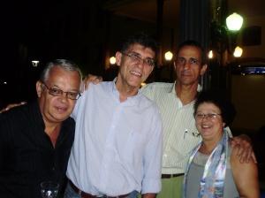 Carlos (esposo Graça), Luiz Paulo, Paulo (esposo Liliana Bastos) e Graça