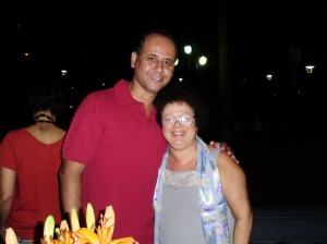 Graça com o cunhado Fábio Dias