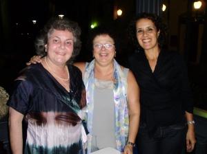 Profa. Inés K. de Miller (autora, PUC-Rio), Graça e Tânia
