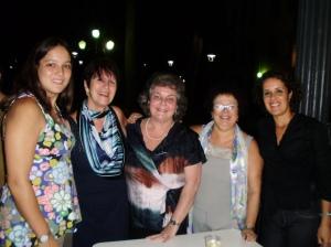 Fernanda Henriques (autora, PUC-Rio), Profa. Maria do Carmo L. de Oliveira (autora, PUC-Rio), Inés K. de Miller (autora, PUC-Rio), Graça e Tânia