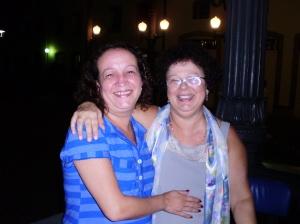 Graça com a irmã Beth Pereira Dias