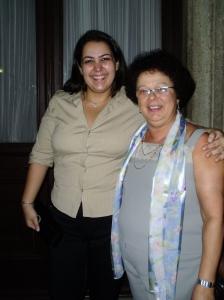 Ana Carolina G. Batista (autora) e Graça
